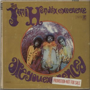 JIMI HENDRIX Are You Experienced - The Holy Grail for Hendrix collectors... here is the earliest promotional issue of the debut 1967 US 11-track mono LP with custom black on white labels, AUTOGRAPHED on the back cover by Noel Redding
