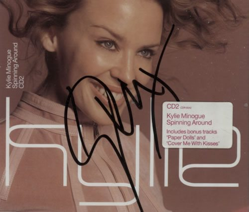 Kylie+Minogue+Spinning+Around++-+Autographed+618152