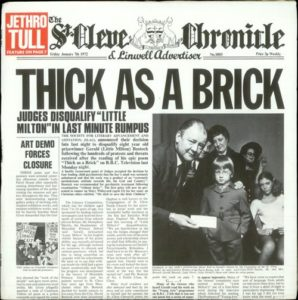 Thick As A Brick First Issue LP