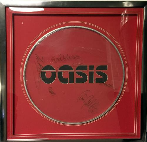 Oasis+Signed+Drum+Skin+-+Autographed+650815
