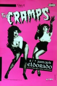 The Cramps - Eldorado 6/7 Juin 1984 French promotional only concert poster for the Spring Tour