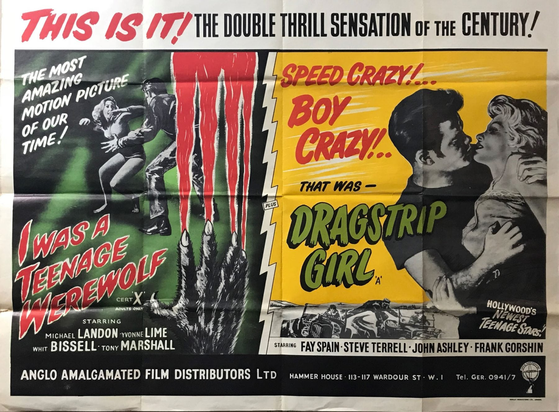 Rare And Vintage 50s Horror Movie Posters Now In Stock